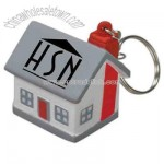 house stress reliever with keychain