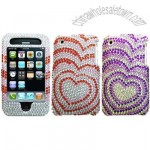 iPhone 3G/ 3GS Hearts Design Rhinestone Diamond Case