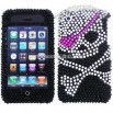 iPhone 3G/ 3GS Skull Patch Rhinestone Diamond Case