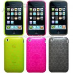 iPhone 3G/3GS Snowflake Crystal Silicon Skin Case
