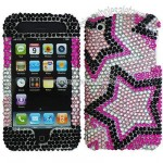iPhone 3G/3GS Twin Stars Rhinestone Diamond Case