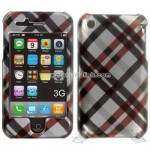 iPhone 3G Black Plaid Snap-on Protective Cover