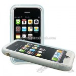 iPhone 3G White Silicone Skin Case