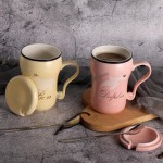 limpidlimpid Ceramic Coffee Mug wih Spoon and lid