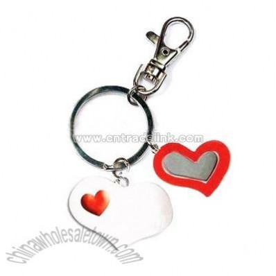 lovely heart key ring
