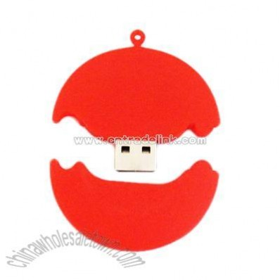 mini red usb flash disk
