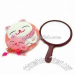 mirror with lovely fortune cat with tail
