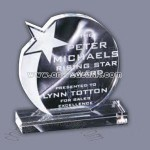 optical crystal glass award
