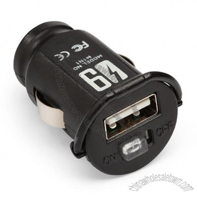 over9000 Compact 2.1 Amp USB Car Power Adapter