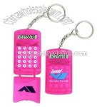 portable cell phone style flip-top protector calculator with keychain
