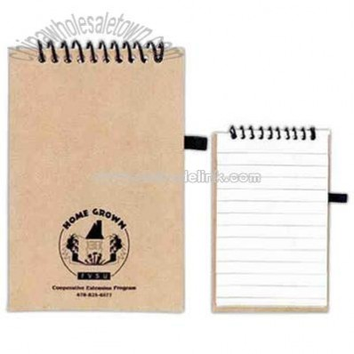 recycled paper spiral bound notebook