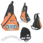 sling triangular backpack with radio