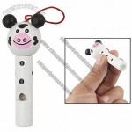white black cartoon piggy shaped wooden whistle toy